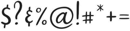 Jopsy Regular otf (400) Font OTHER CHARS