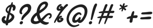 Joyfulness Italic Script otf (400) Font OTHER CHARS