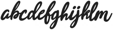Joyfulness Italic Script otf (400) Font LOWERCASE