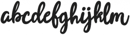 Joyfulness Script otf (400) Font LOWERCASE