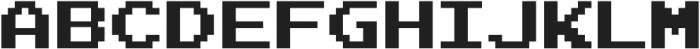 Joystix Proportional otf (400) Font UPPERCASE