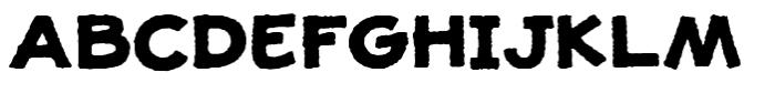 Jolly Good Proper Unicase Rough Bold Font UPPERCASE