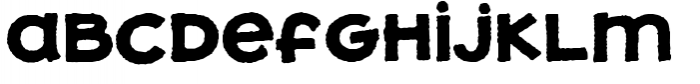Jolly Good Proper Unicase Rough Bold Font LOWERCASE