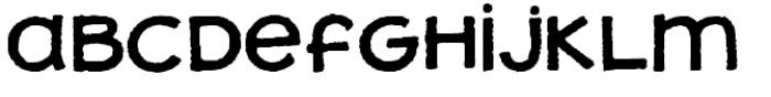Jolly Good Proper Unicase Rough Font LOWERCASE