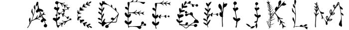 JOYFUL BOTANS Font LOWERCASE