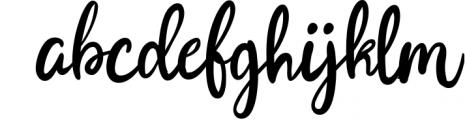Joyfulness Script Font with Extras 2 Font LOWERCASE