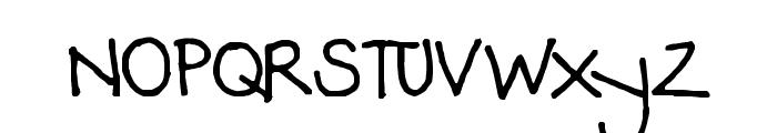 Jodis hand Font UPPERCASE