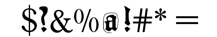 JoeCaxton Font OTHER CHARS