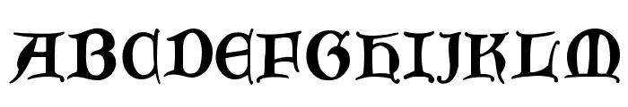JoeCaxton Font UPPERCASE