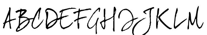 JoeHand2 Font UPPERCASE