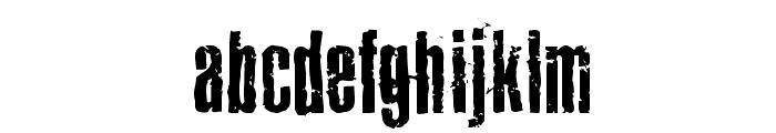 Joels Ragged Font Font LOWERCASE