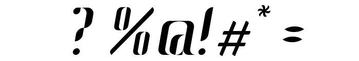 Johanna Italic Font OTHER CHARS