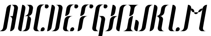 Johanna Italic Font UPPERCASE