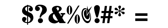 JohnHancockCP Medium Font OTHER CHARS