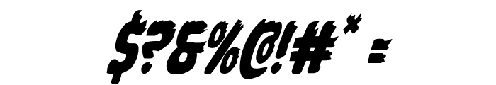 Johnny Torch Condensed Italic Font OTHER CHARS