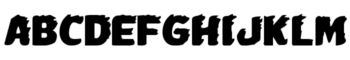 Johnny Torch Expanded Font LOWERCASE