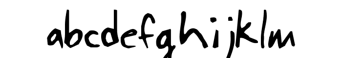 JohnnyFont Font LOWERCASE