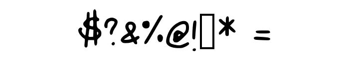 Johnsonscript Font OTHER CHARS