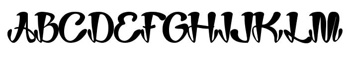 Joker Shoes Font UPPERCASE