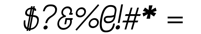 Jolly Italic Font OTHER CHARS