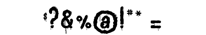 Joly Death Font OTHER CHARS