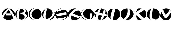 JonasFragmentsRound Font UPPERCASE