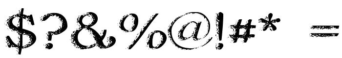 Jordan's Treebark Font OTHER CHARS