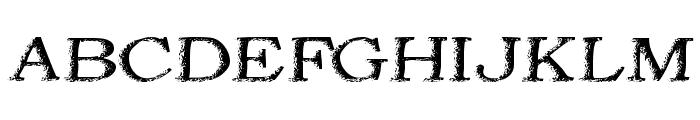 Jordan's Treebark Font UPPERCASE