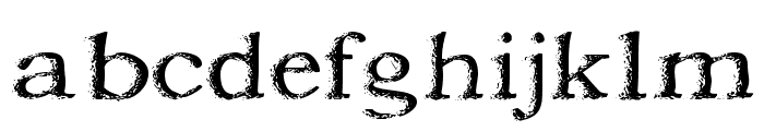 Jordan's Treebark Font LOWERCASE