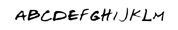 Josef Xuereb's Friends Font LOWERCASE