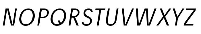 Josef reduced Light Italic Font UPPERCASE