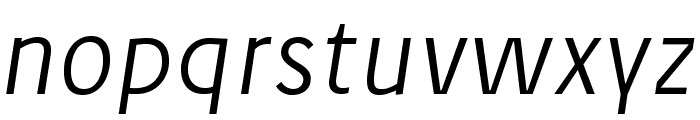 JosefPro-LightItalicreduced Font LOWERCASE