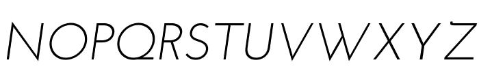 Josefin Sans Italic Font UPPERCASE