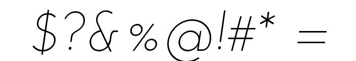 Josefin Sans Light Italic Font OTHER CHARS