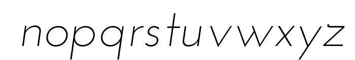 Josefin Sans Light Italic Font LOWERCASE