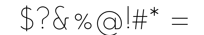Josefin Sans Light Font OTHER CHARS