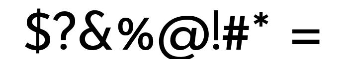 Josefin Sans Regular Font OTHER CHARS
