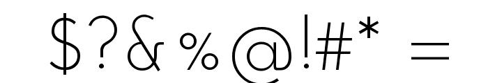 Josefin Sans Std Light Font OTHER CHARS
