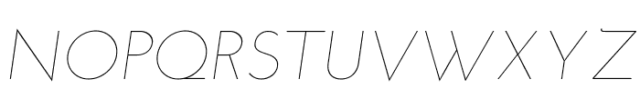 Josefin Sans Thin Italic Font UPPERCASE