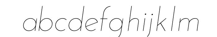 Josefin Sans Thin Italic Font LOWERCASE