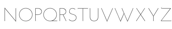 Josefin Sans Thin Font UPPERCASE