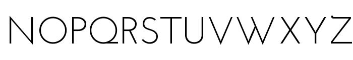 Josefin Sans Font UPPERCASE