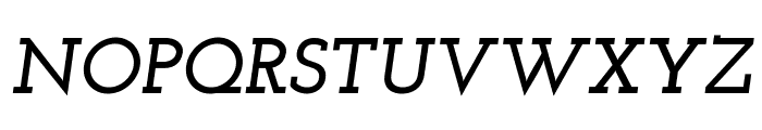Josefin Slab Bold Italic Font UPPERCASE