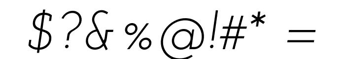 Josefin Slab Italic Font OTHER CHARS