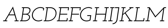 Josefin Slab Italic Font UPPERCASE