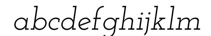 Josefin Slab Italic Font LOWERCASE
