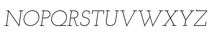 Josefin Slab Light Italic Font UPPERCASE