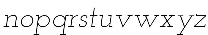 Josefin Slab Light Italic Font LOWERCASE