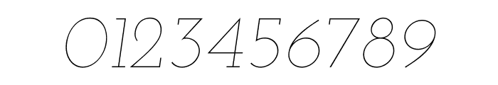 Josefin Slab Thin Italic Font OTHER CHARS