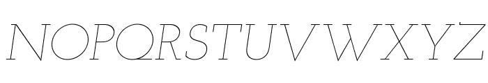 Josefin Slab Thin Italic Font UPPERCASE